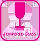 icon fridge tempered glass
